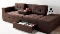 宜家多功能布艺沙发床带抽屉带收纳脚踏日式折叠小户型沙发床