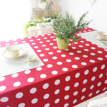 European rural dots custom tea table cloth desk rectangle washing machine table multi-purpose cotton towel