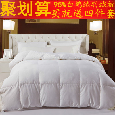 Carolina textile white goose down duvet 95 warm autumn and winter blankets are double thick quilt quilt authentic
