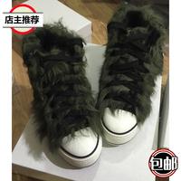 秋冬女新羊羔毛卷毛泰迪羊毛皮毛一体整皮内增高厚底短靴毛毛鞋