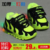 男童保暖运动鞋学步鞋女宝宝棉鞋软底防滑加厚婴儿鞋子0-1岁2冬季