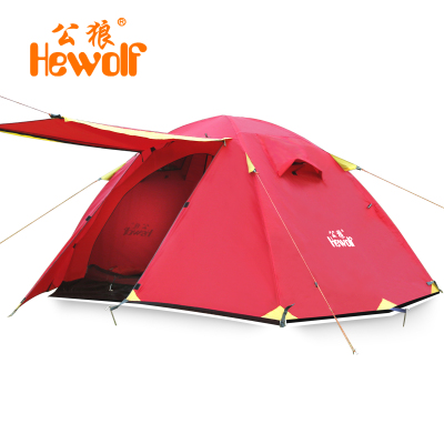 Outdoor tent Double Pole Double upgraded version of wind and rain professional male wolf tent camping HW-Z1622