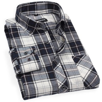 Men's classic red and black checkered plaid long-sleeved shirt Slim wear Mao Gezi warm shirt plus thick velvet without