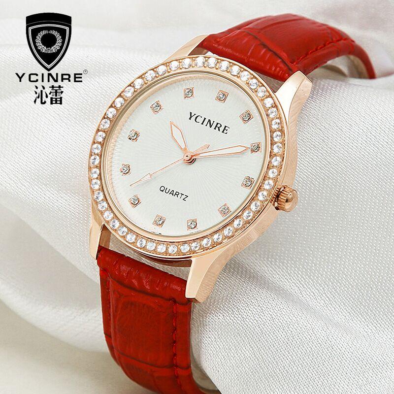 沁蕾正品皮带女士手表时尚简约学生石英表韩版时尚潮流真皮女表