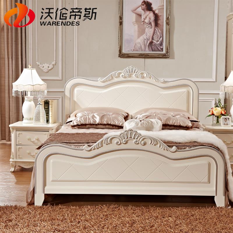 沃伦帝斯 法式公主床欧式床1.8米双人床韩式田园床实木床免费三包