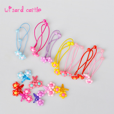 Korean children hair accessories Korean version of the small hairpin hairpin headdress flower rubber band sets baby girls hair accessories