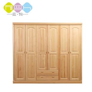 实木衣柜松木衣柜单门2门3门4门5门6门柜儿童成人柜储藏柜可定制