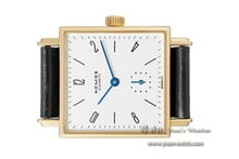 NOMOS - Tetra 411-18 k yellow gold white flour manually