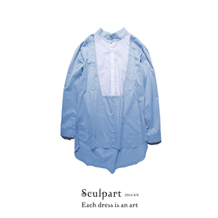 SCULPART 2016S/S Contrast color 蓝白撞色绅士衬衫