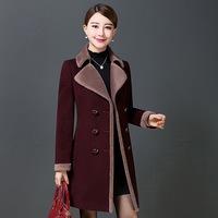 反季特价 大码女装毛呢外套 中长款风衣 中年女妈妈装羊毛呢大衣
