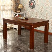 现代新中式实木餐桌简约时尚餐桌椅组合客厅小户型饭桌长方形餐台