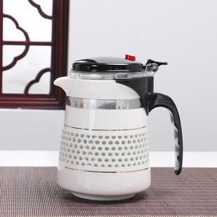 蜂巢窝镂空大号玲珑瓷白色陶瓷茶具飘逸杯过滤内胆办公室泡茶壶