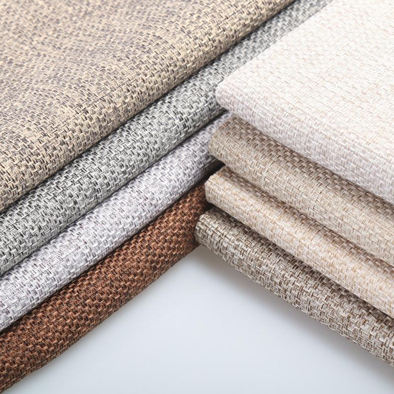 加厚沙發布料粗亞麻布面料手工包背景老粗布坐墊套子軟包防塵布藝圖片
