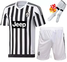 15 16 Juventus home soccer jersey shorts football socks kits