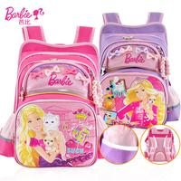 芭比正品1-4年级小学生书包双肩包防水公主女孩儿童包678910112岁