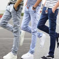 13岁14牛仔裤子15男孩16高初中学生17青少年18韩版修身小脚长裤19
