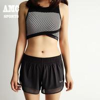 大牌款女子防走光运动短裤网纱透气性感跑步健身运动训练短裤女