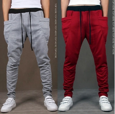 男 运动裤哈伦裤垮裤 Men casual sweat pants boys harem pants