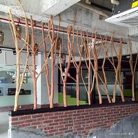 美空D001带杈鸿运树干树枝装饰树道具天然屏风隔断客厅真树枝直销
