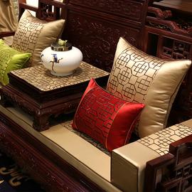 新古典中式刺绣红木沙发抱枕靠垫套圈椅腰靠枕床头软包靠背大含芯图片