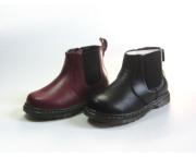 斯乃纳童鞋冬款男女童百搭牛皮低筒短靴马丁靴中大童棉内里皮靴