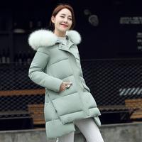 反季清仓女新款女学生韩版中长款胖MM孕妇装加厚宽松棉衣羽绒棉服