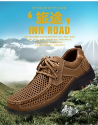 Leather sandals_ men's outdoor casual shoes 45 big yards鞋
