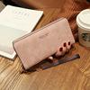2018时尚多功能可放6寸手机女士复古手提手拿长款零钱包