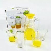 活动礼品 玻璃水杯 水具套装  透明家用水具套装 冷水壶五件套装