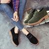 奥雅达春秋女鞋平底英伦系带鞋圆头平跟百搭学生复古单鞋