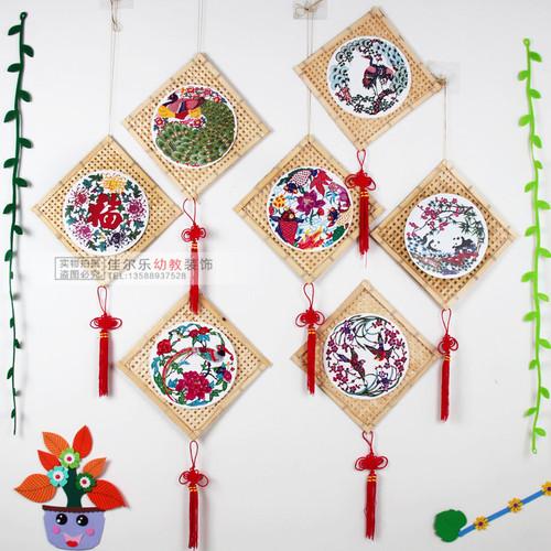 幼儿园吊饰挂饰 教室走廊创意空中装饰手工竹编区角环境布置材料图片