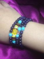 金沙石手链手串毛衣链蓝沙石手链天然水晶手链送女生生日礼物