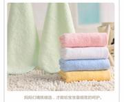 竹炭竹纤维小毛巾帕子柔软四方儿童洗脸宝宝洗屁股吸水小方巾