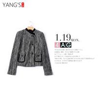 EQ : IQ小香风修身显瘦羊毛短外套女装小西装领上衣[T02469]乎