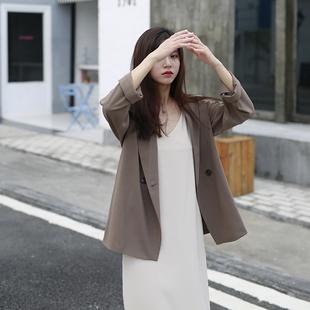2020秋冬装休闲西服套装英伦风薄款上衣韩版气质修身小西装外套女