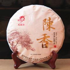 龙园号 普洱茶熟茶饼 陈香饼茶09年老料压制 380克七子饼 陈香味