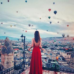 2018女夏装吊带连衣裙红色性感露背沙滩裙子雪纺海边度假长裙