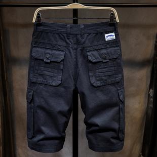 夏季男士短裤潮流男薄款五分宽松运动多口袋5分工装短裤