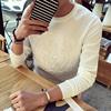 秋季日系潮牌3D立体压花数码印花太空棉男士宽松大码长袖T恤