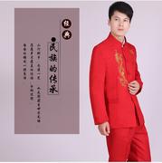 2014新郎中式男装婚礼中山装男士西服套装民族