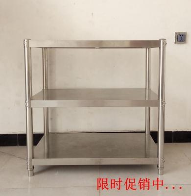 厨房置物架微波炉架3层收纳储物架加厚不锈钢落地家用图片