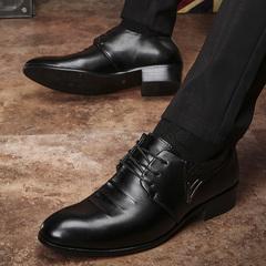 林弯弯皮鞋名士潮流男鞋子男士商务鞋英伦正装鞋漆光潮鞋