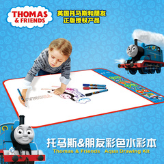 托马斯水画布垫儿童反复涂水画布毯小孩课桌桌布绘画垫布画画布垫