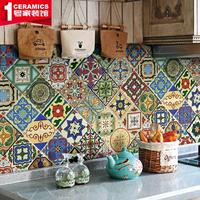 欧式手工艺术地中海小花砖10楼梯侧面砖厨卫腰线凹凸亮面花片瓷砖
