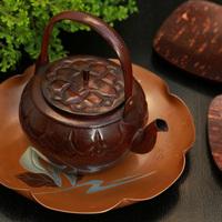 南园雅玩 日本原装 匠人手作老铜壶 功夫茶具烧水煮茶泡茶壶特价