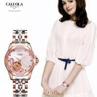 品牌正品女士手表机械表防水女表镂空时尚时装镶钻皮带腕表CA1181