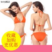 女士性感BIKINI三点式比基尼度假沙滩泳衣女生小胸聚拢三角泳装