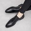 男士商务小皮鞋男尖头黑色透气潮流英伦青年新郎正装鞋子