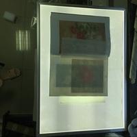 可调光 拷贝台透写台A1A0书法临摹台国画线描工笔透台拷贝板透光
