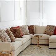 美式乡村软包转角沙发地中海后现代简约椅高档转角沙发客定制